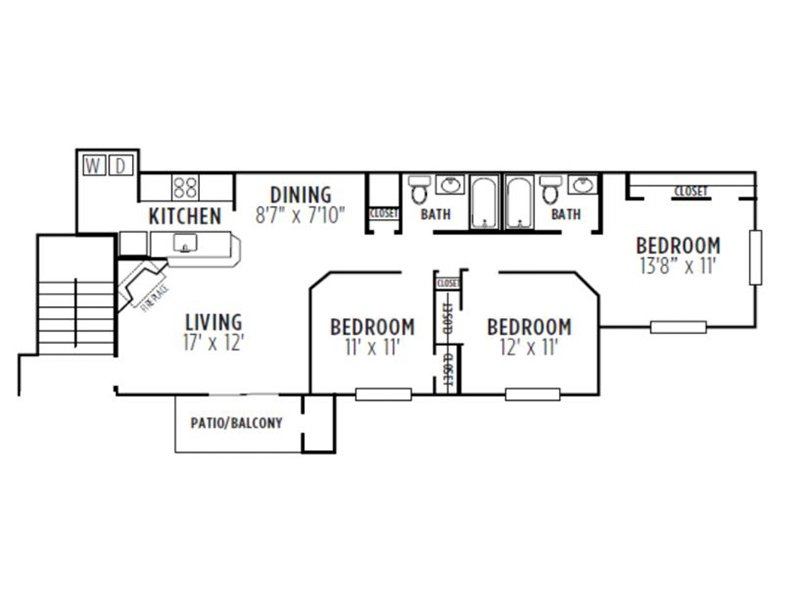 Kensington Crossing Apartments Floor Plan Oak