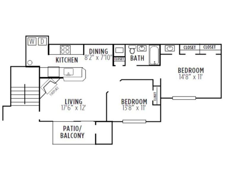 Kensington Crossing Apartments Floor Plan Willow