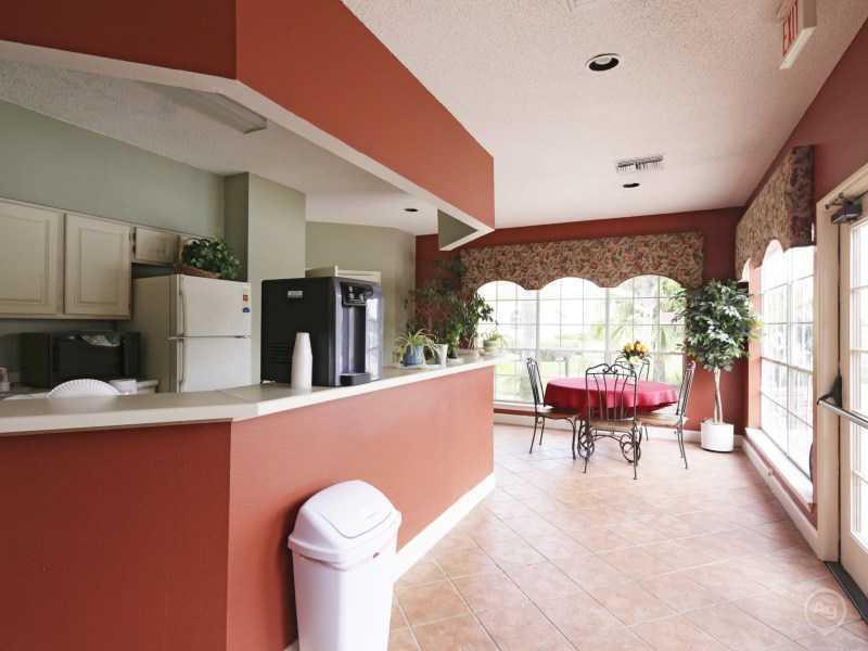 Club House Kitchen | Lake Tivoli Apartments