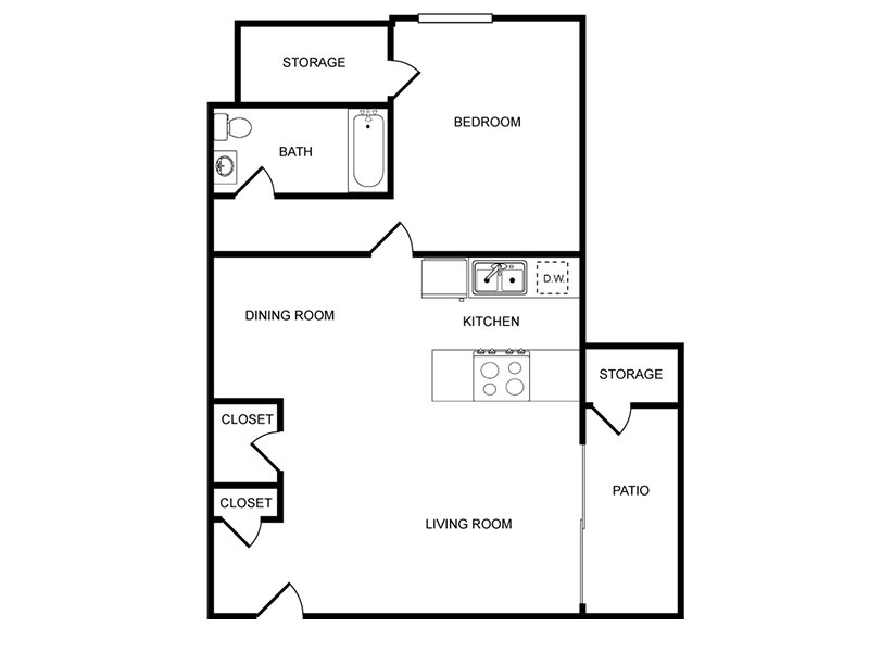 1 Bedroom 1 Bathroom apartment available today at Tamarus Villas in Las Vegas