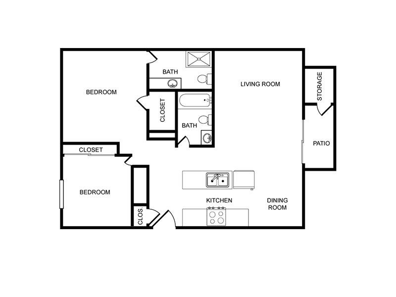 2 Bedroom 2 Bathroom apartment available today at Tamarus Villas in Las Vegas