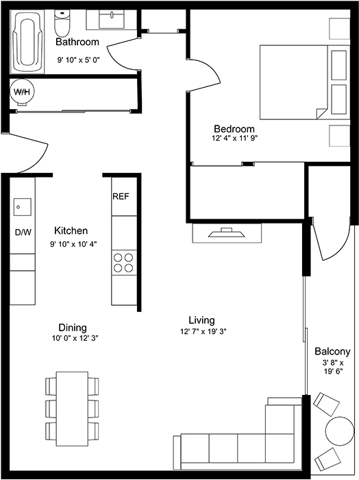 Floor Plans for Magnolia Apartments in Seattle