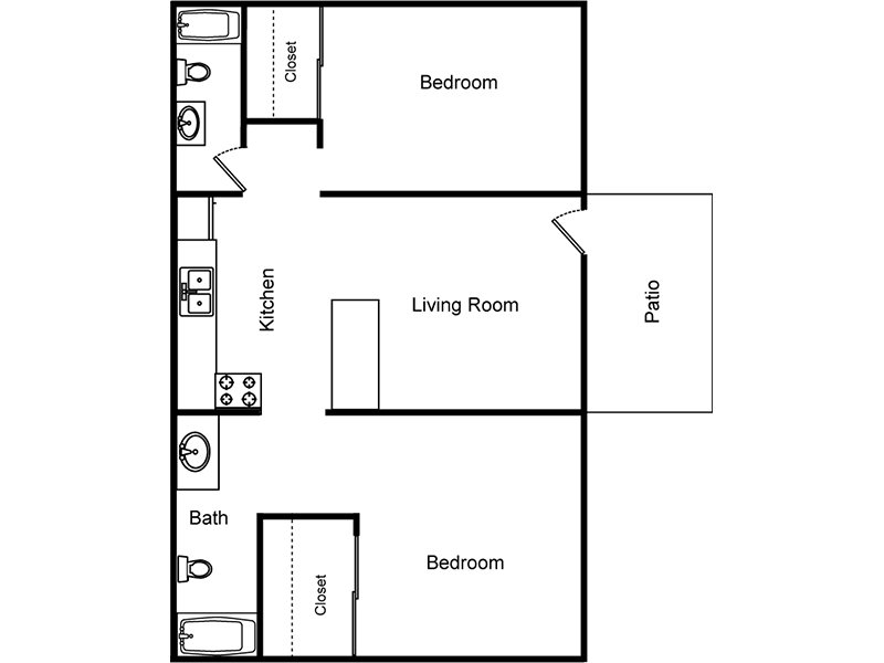 The Tahoe apartment available today at Reno Villas in Las Vegas