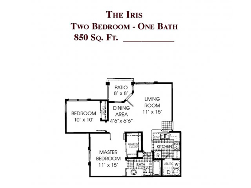 The Iris apartment available today at Gloria Park Villas in Las Vegas