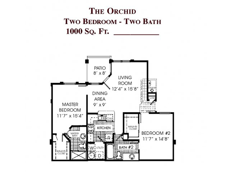 View floor plan image of The Orchid apartment available now