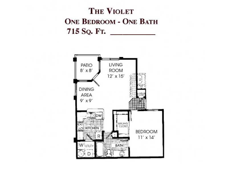 View floor plan image of The Violet apartment available now