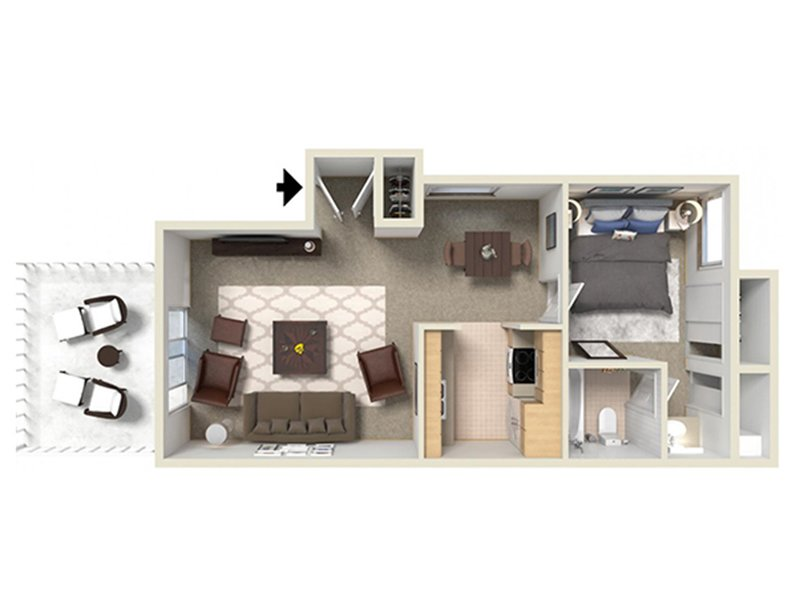 View floor plan image of 1a apartment available now
