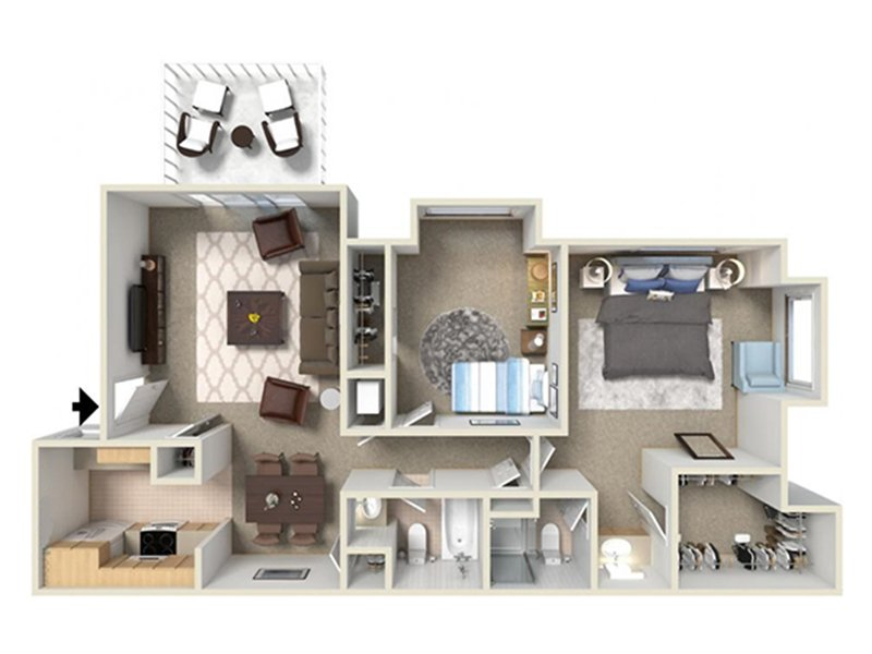 View floor plan image of 2d apartment available now