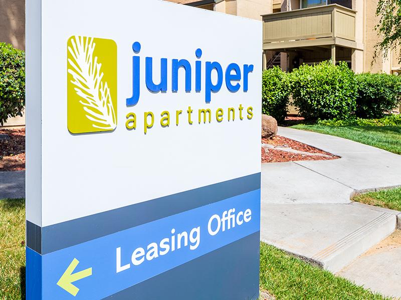 Monument Sign | The Juniper Apartments in Sacramento, CA