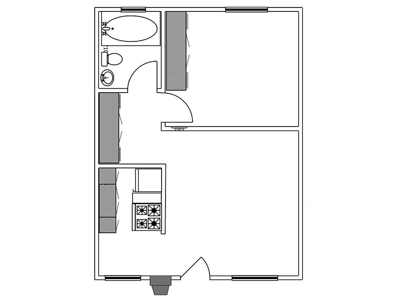 View floor plan image of 1 Bedroom 1 Bathroom Large apartment available now