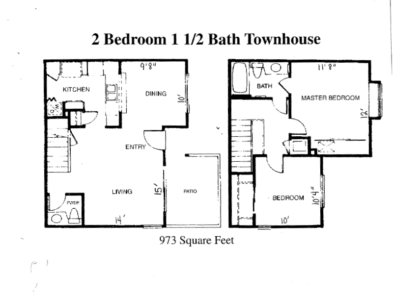 2 Bedroom Townhome apartment available today at Meadowood in Corona