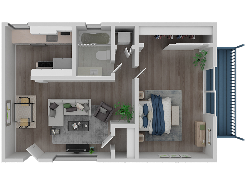 View floor plan image of 1 Bedroom 1 Bath Penthouse apartment available now