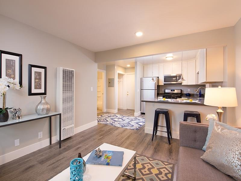 Living Room | Bayview Apartments