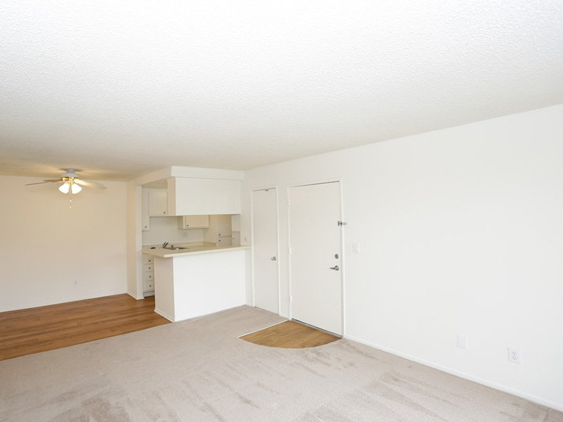 1 Bedroom Front Room | Tribeca Apartments