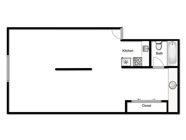Lookout Pointe Apartments Floor Plan Modified Studio