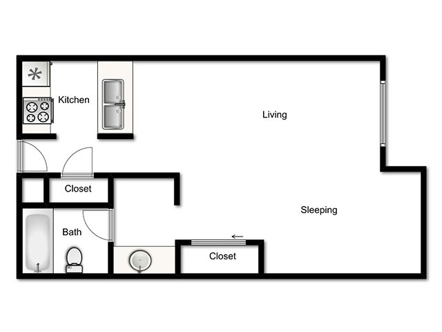 Lookout Pointe Apartments Floor Plan Studio
