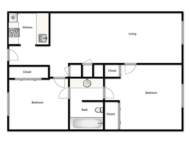 Lookout Pointe Apartments Floor Plan Two Bedroom