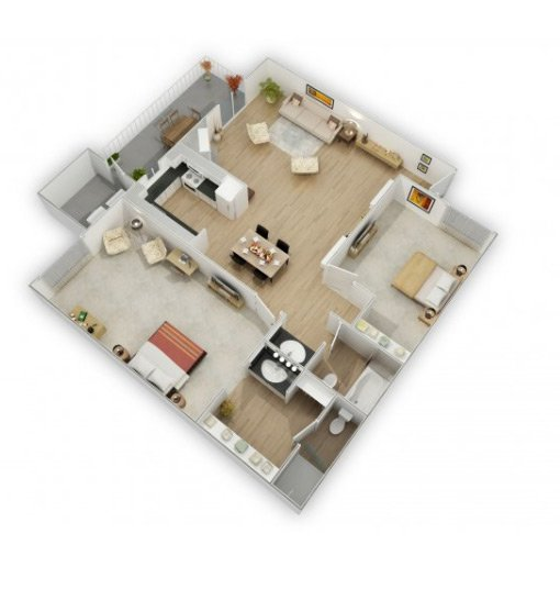 Country Lake Apartments Floor Plan Mead