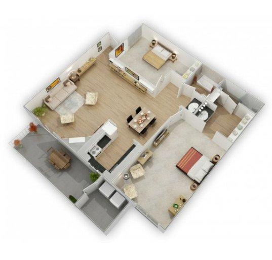 Country Lake Apartments Floor Plan Powell