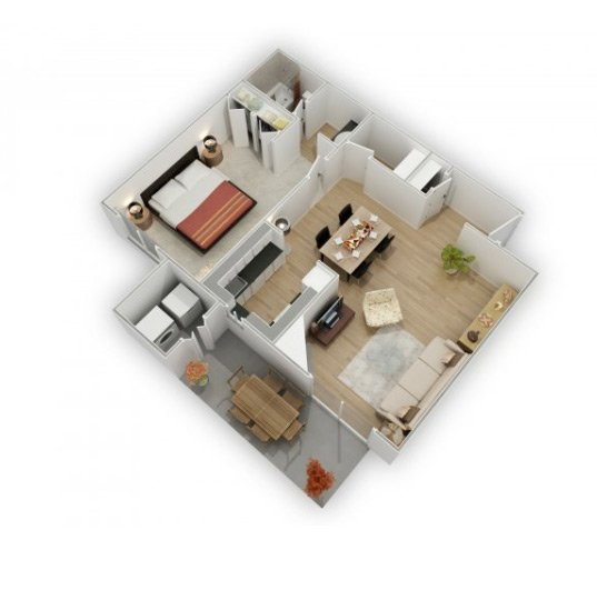 Country Lake Apartments Floor Plan Tahoe