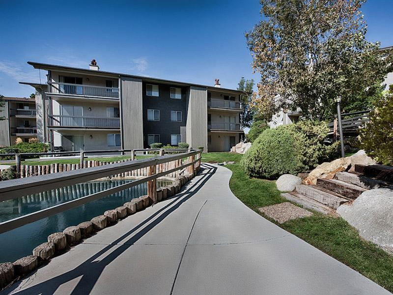 Pond Walkway | Salt Lake City Apartments