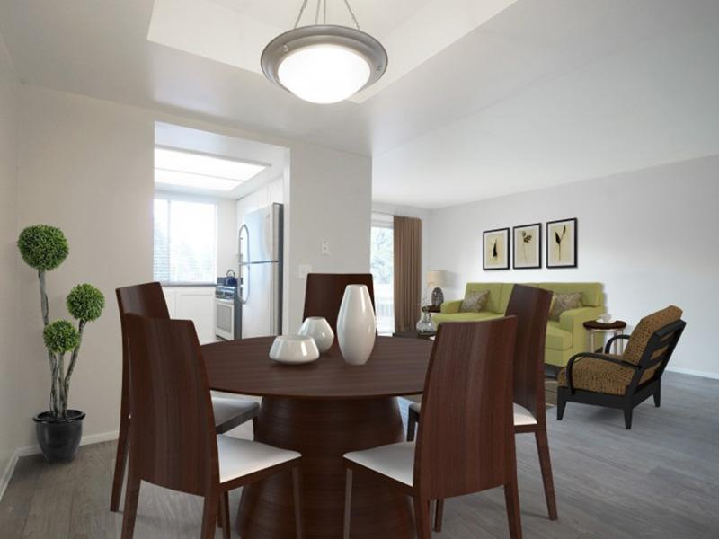 Dining Room | Kitchen | Country Lake Apartments