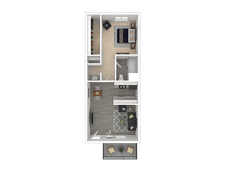View floor plan image of Powell apartment available now