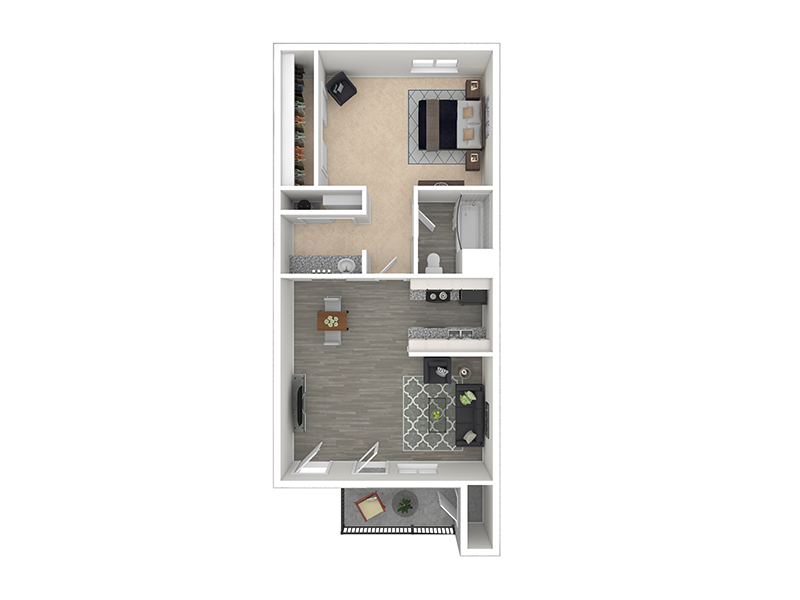 View floor plan image of Zion Renovated apartment available now