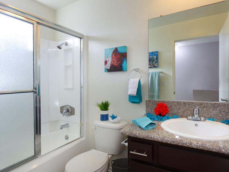 Bathroom main view   Lake Balboa Apartments
