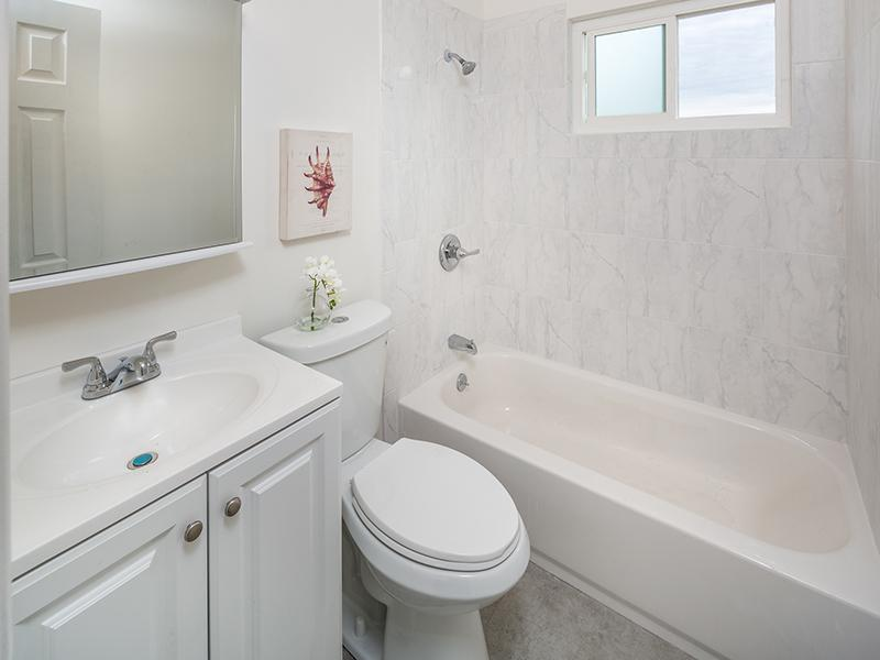 Bathroom    Greenleaf Apartments in Hayward, CA