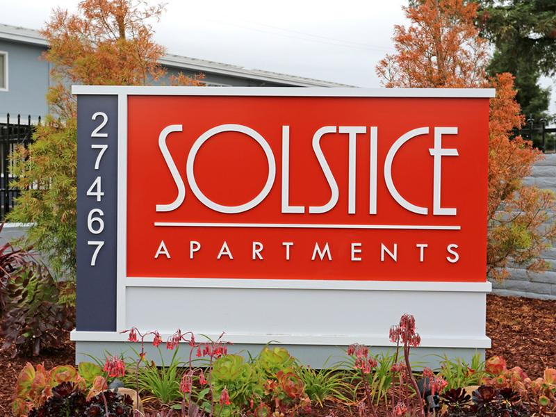 Welcome Sign | Solstice Apartments