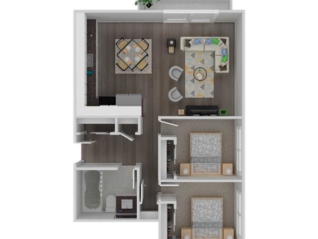 2 BEDROOM 1 BATHROOM apartment available today at Solis Garden in Hayward