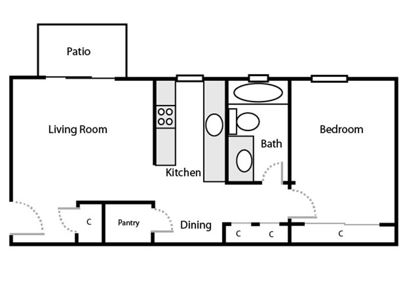 A1 apartment available today at Parkwood in Fairfield