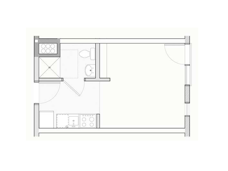 Floor Plans for Pearl Studios Apartments in Portland