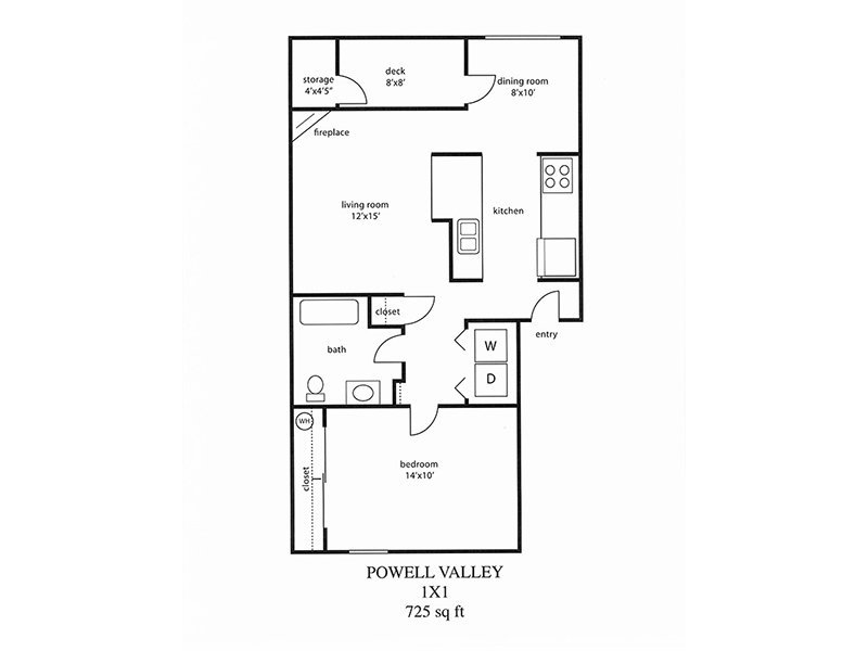 Floor Plans for Powell Valley Farms Apartments in Gresham