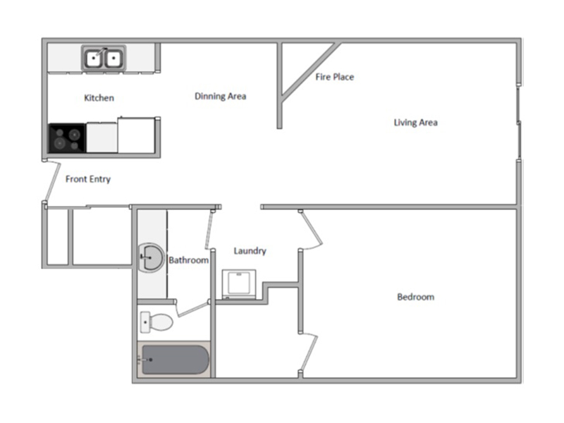 View floor plan image of 1 Bedroom Deluxe apartment available now