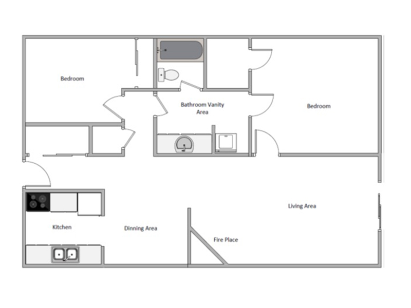 2 Bedroom Deluxe apartment available today at The Joshua Tree in Salt Lake City