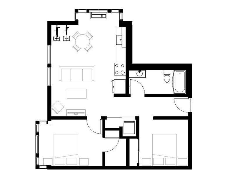 Northwood Apartments Floor Plan Interstate