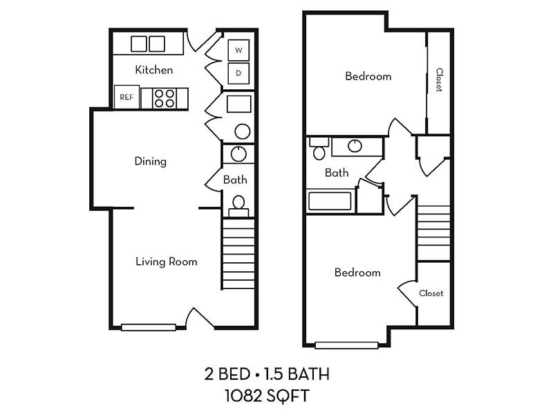 2 bed 1.5 bath apartment available today at Logan Landing Townhomes in Logan