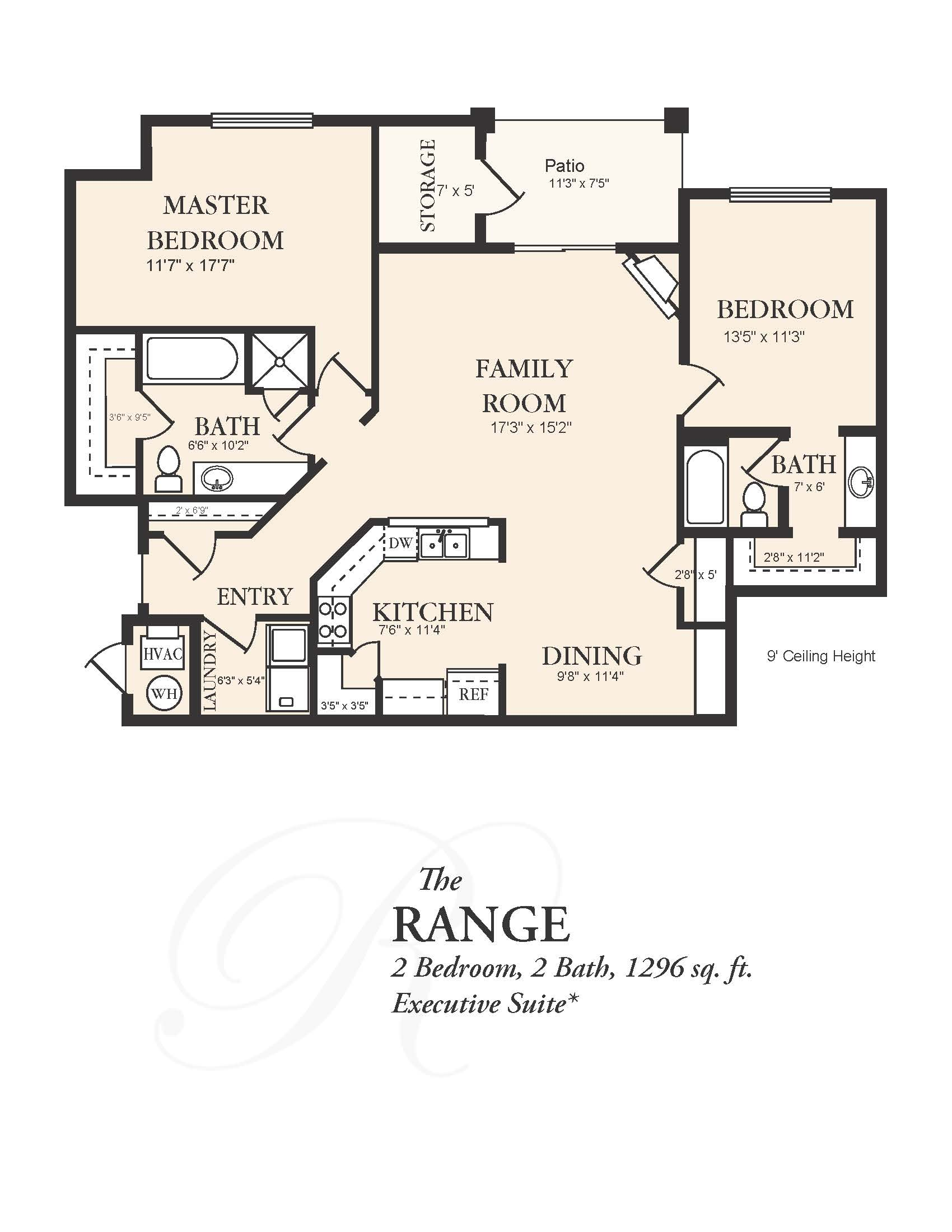 View floor plan image of 2Bedroom 2 Bath apartment available now