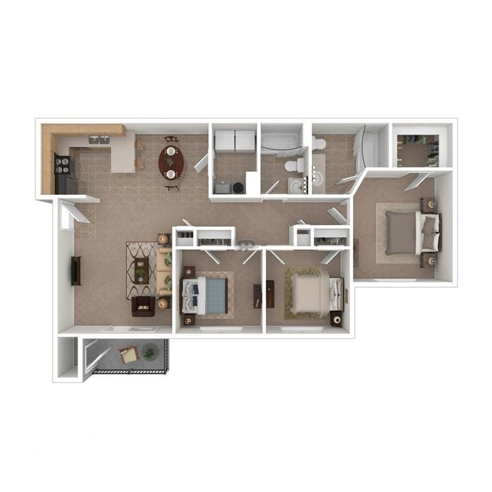 3 Bedroom 2 Bathroom Apartment Priced At 1120 1130 Sq Ft