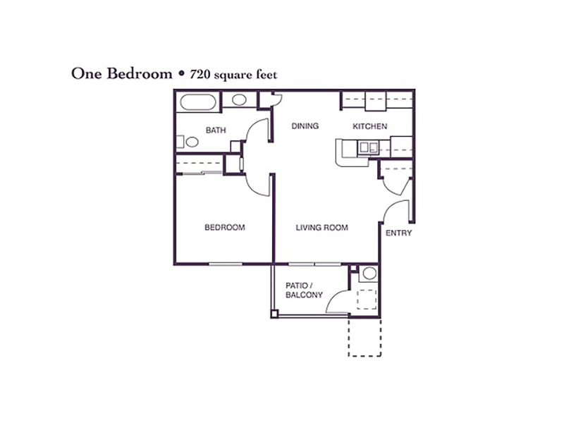 1 Bedroom 1 Bath apartment available today at Crocker Oaks in Roseville