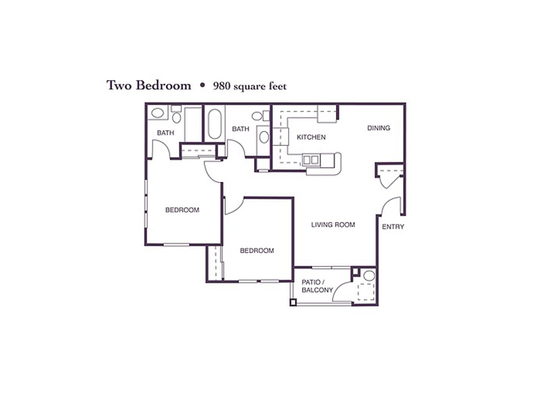 2 Bedroom 2 Bath apartment available today at Crocker Oaks in Roseville