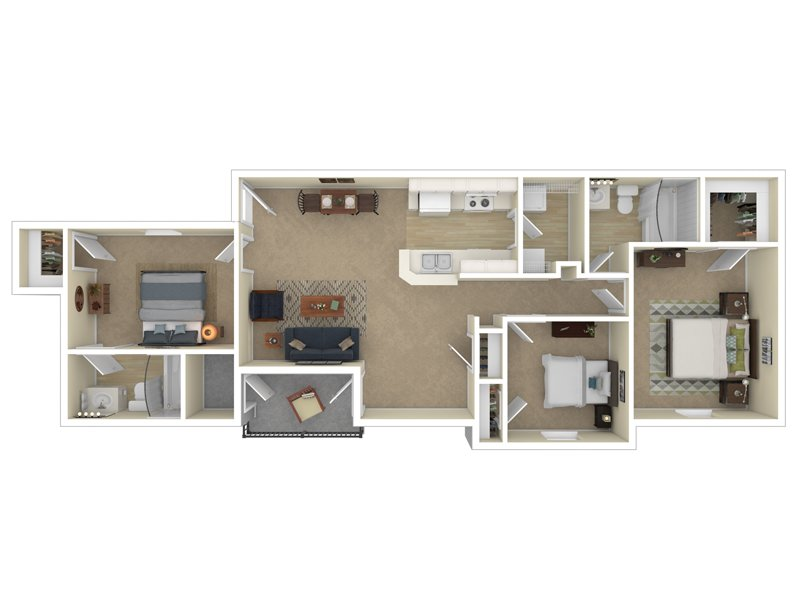 3 Bedroom 2 Bath apartment available today at Cedar Square in Boise