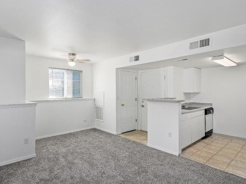 Living Room &  Kitchen | Cedar Square Apartments