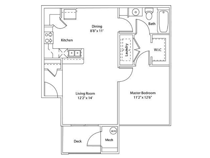 1 Bedroom 1 Bath apartment available today at Settlers Landing in West Haven