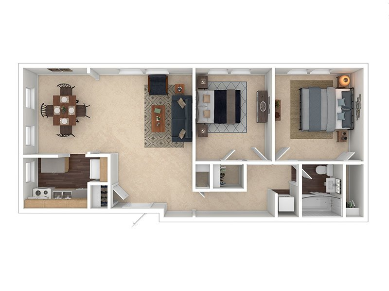 View floor plan image of 2x1F apartment available now