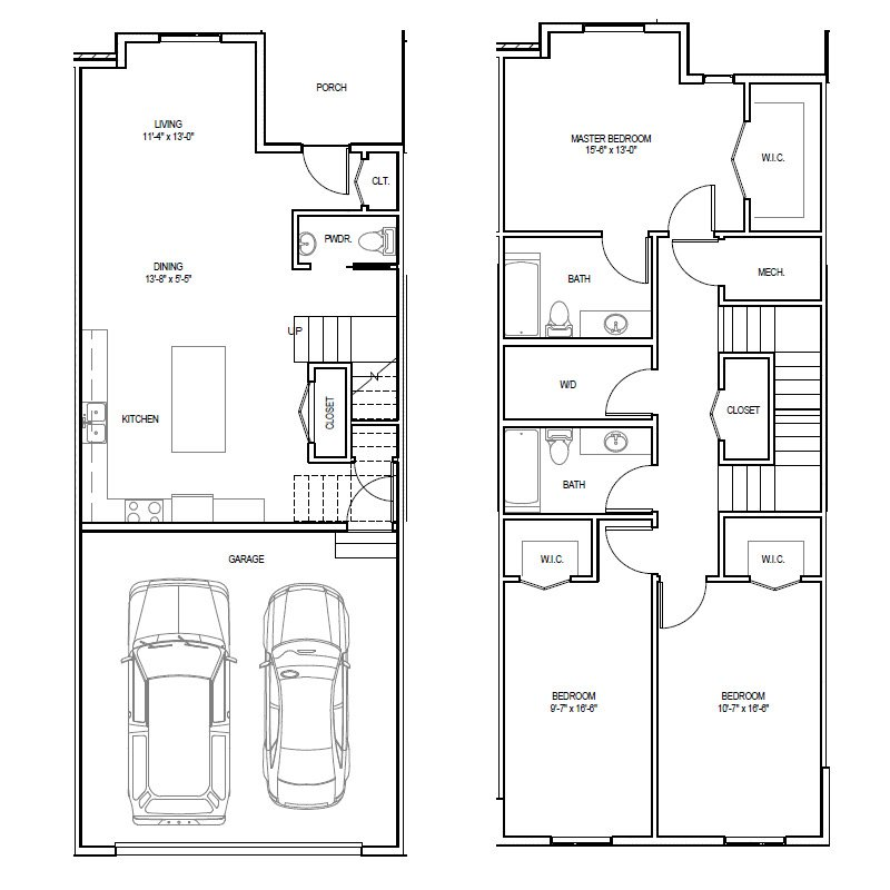 Madrona Apartments Floor Plan A-3