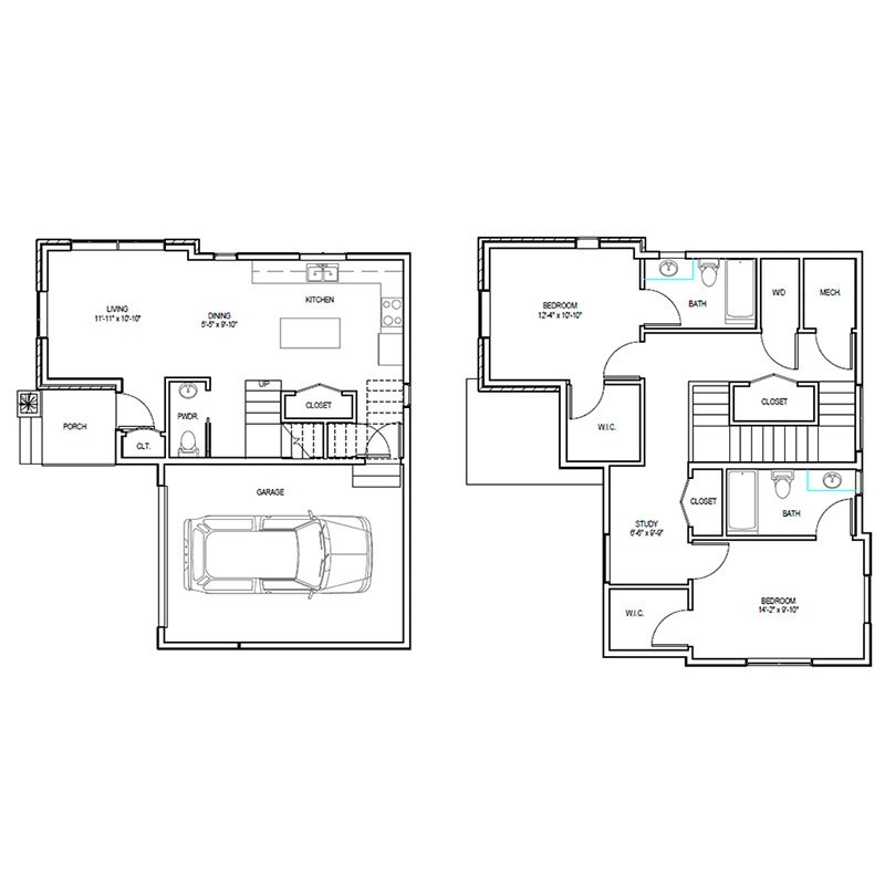 Madrona Apartments Floor Plan D-1