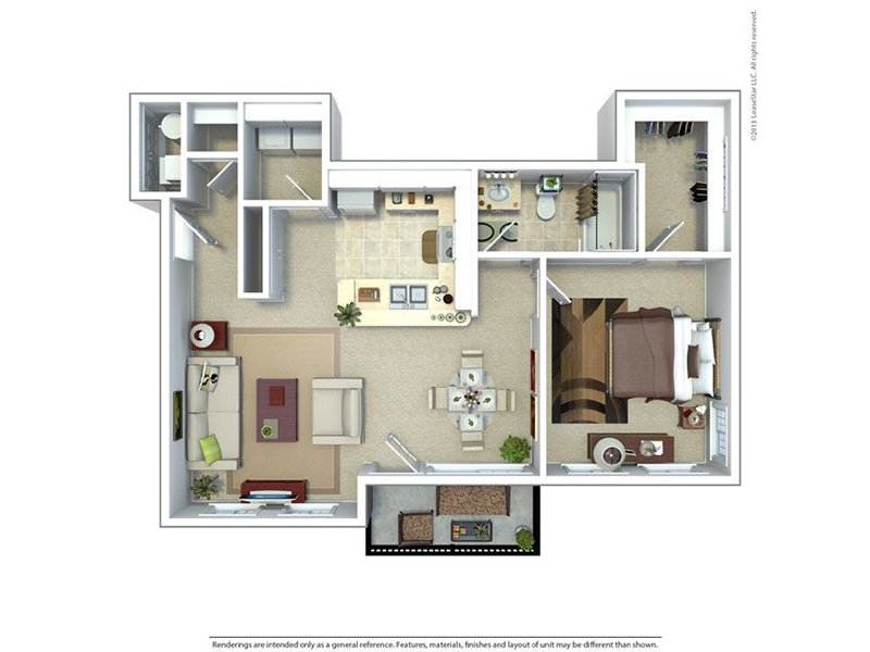 Riverwalk Apartments Floor Plan One Bedroom One Bath